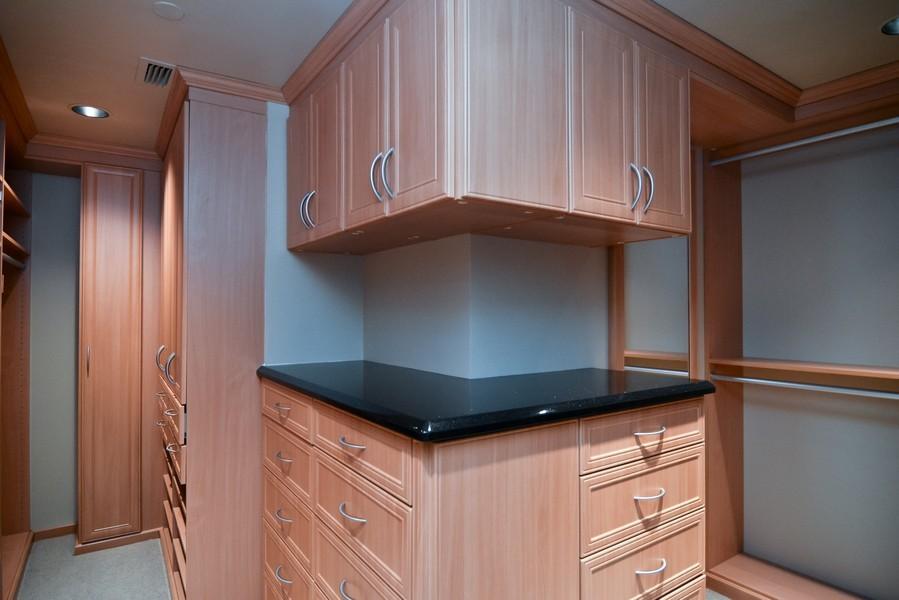 Real Estate Photography - 425 Beach Road, 7-O, Jupiter Island, FL, 33469 - Master Bedroom Closet