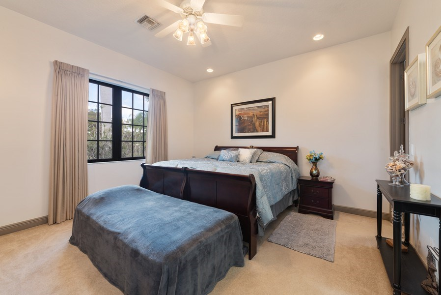 Real Estate Photography - 11208 88th Rd N, Palm Bch Gdns, FL, 33412 - Guest House Bedroom