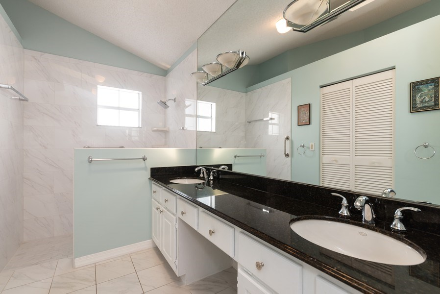 Real Estate Photography - 13 Elgin Ln, Palm Bch Gdns, FL, 33418 - Master Bathroom