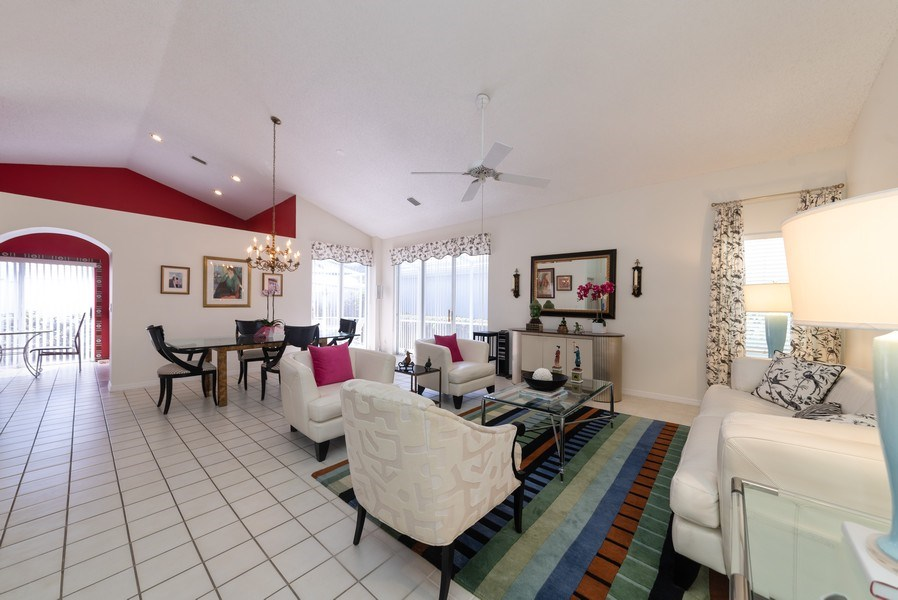 Real Estate Photography - 13 Elgin Ln, Palm Bch Gdns, FL, 33418 - Living Room / Dining Room