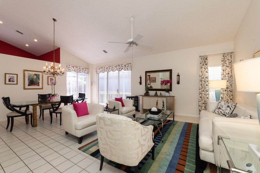 Real Estate Photography - 13 Elgin Ln, Palm Bch Gdns, FL, 33418 - Living Room/Dining Room