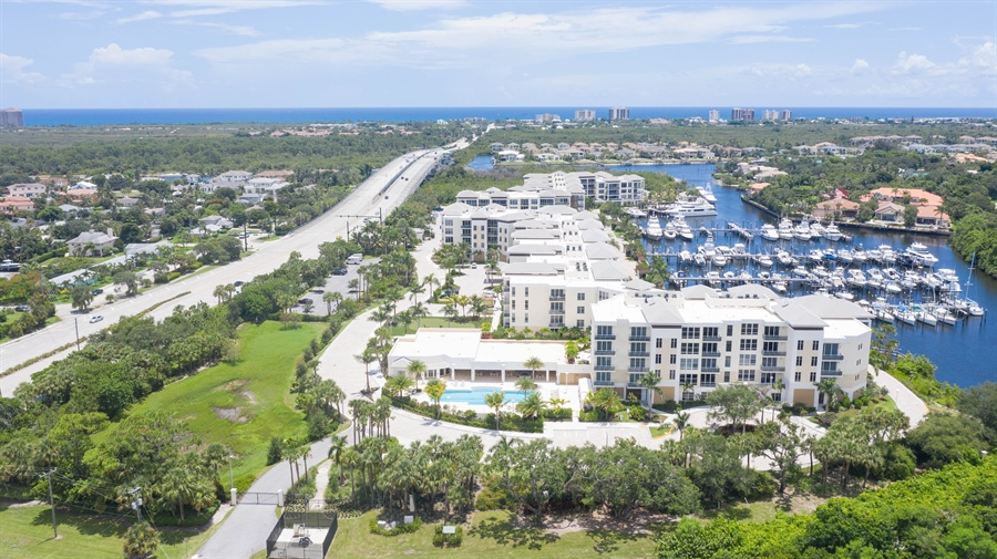 Real Estate Photography - 2720 Donald Ross Rd, Unit 502, Palm Beach Gardens, FL, 33410 - Aerial View