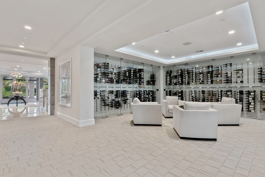 Real Estate Photography - 2720 Donald Ross Rd, Unit 502, Palm Beach Gardens, FL, 33410 - Wine Cellar
