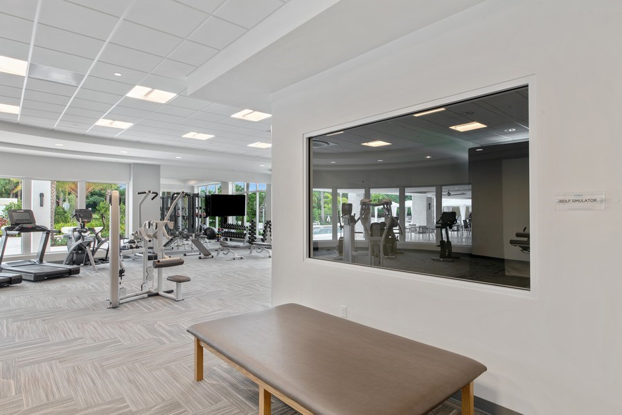 Real Estate Photography - 2720 Donald Ross Rd, Unit 502, Palm Beach Gardens, FL, 33410 - Fitness Center