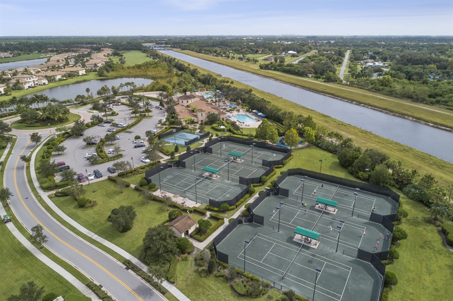 Real Estate Photography - 111 Lucia Ct, Jupiter, FL, 33478 - Tennis courts and pickle ball courts