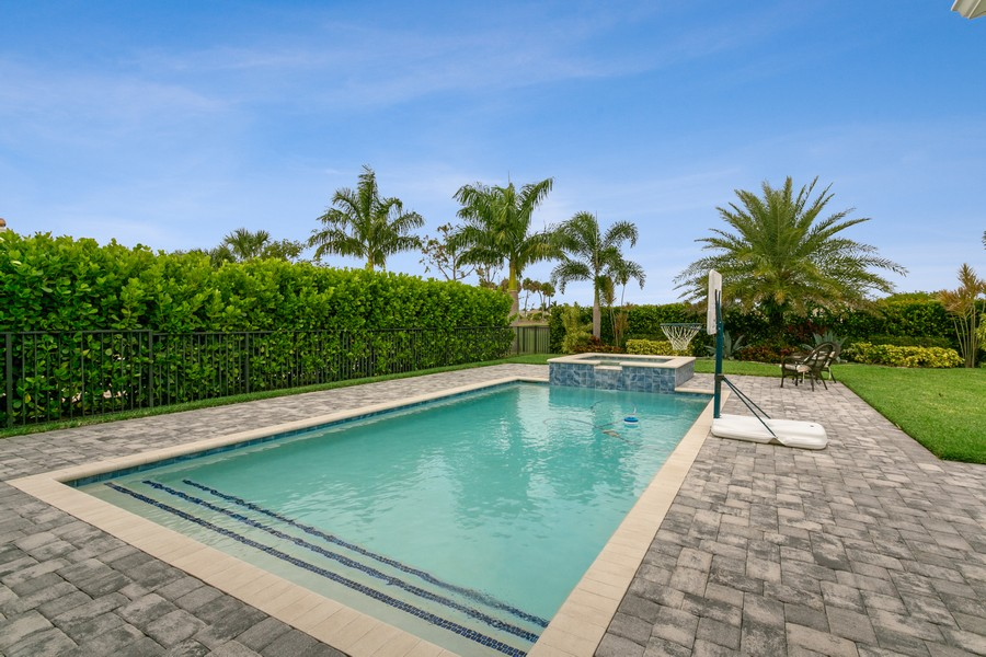Real Estate Photography - 111 Lucia Ct, Jupiter, FL, 33478 - Pool and Spa