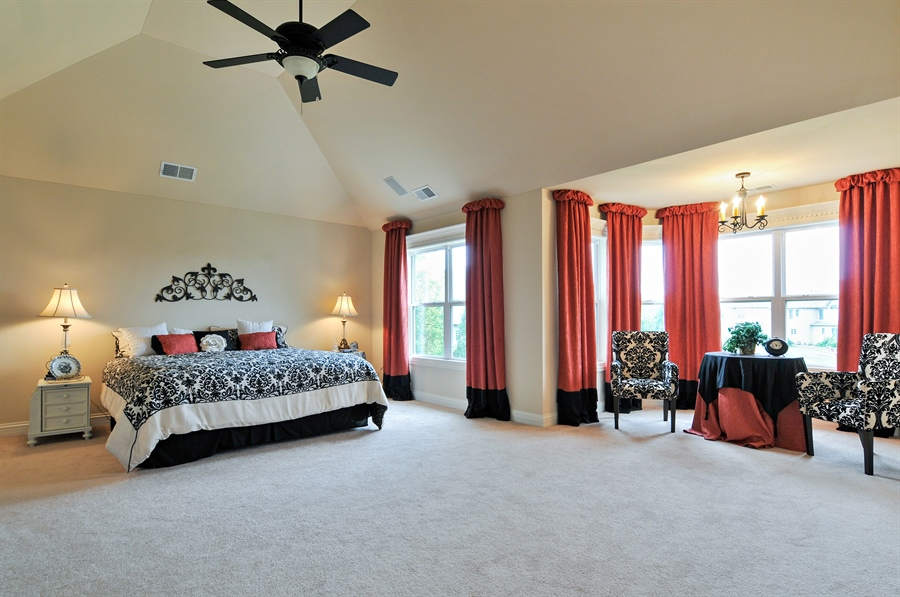 Real Estate Photography - 582 Colchester, Oswego, IL, 60543 - Master Bedroom