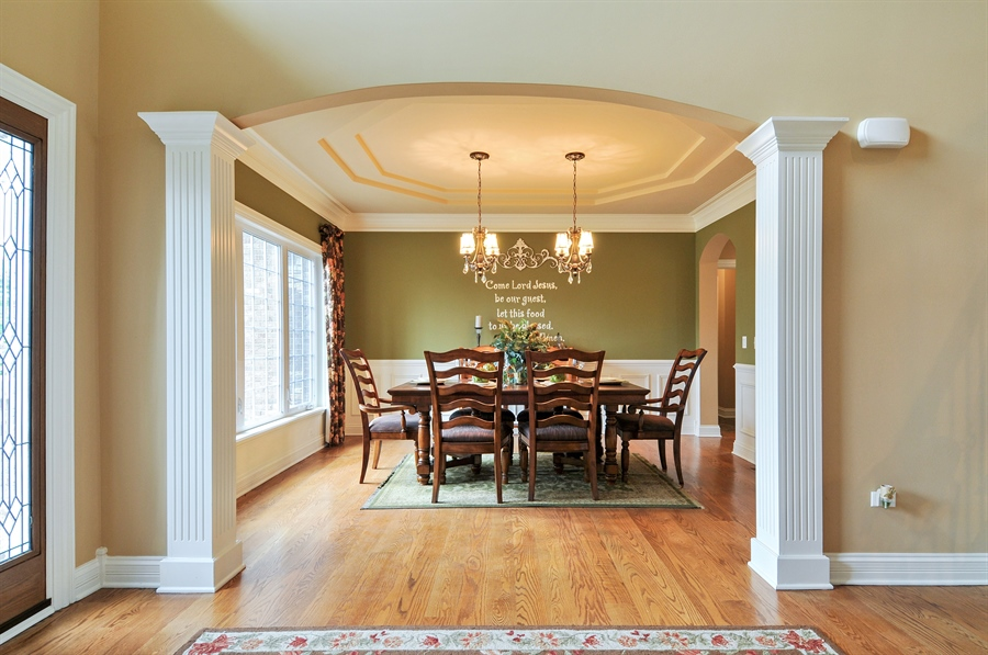 Real Estate Photography - 582 Colchester, Oswego, IL, 60543 - Dining Room