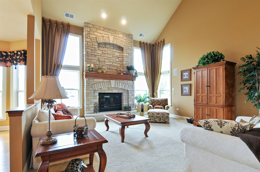 Real Estate Photography - 582 Colchester, Oswego, IL, 60543 - Family Room