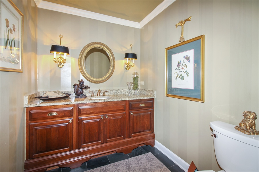 Real Estate Photography - 35 Bradford Ln, Oak Brook, IL, 60523 - Powder Room