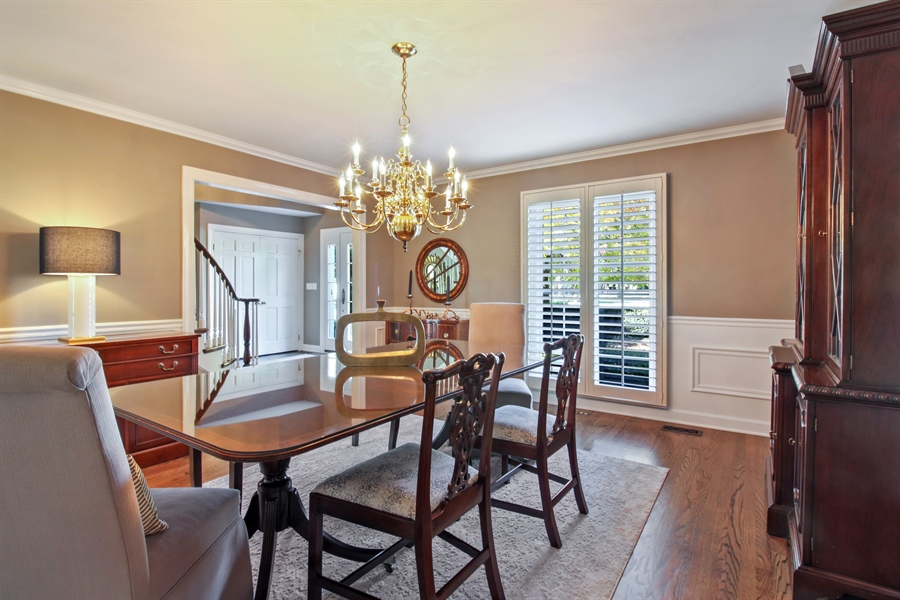 Real Estate Photography - 35 Bradford Ln, Oak Brook, IL, 60523 - Dining Room