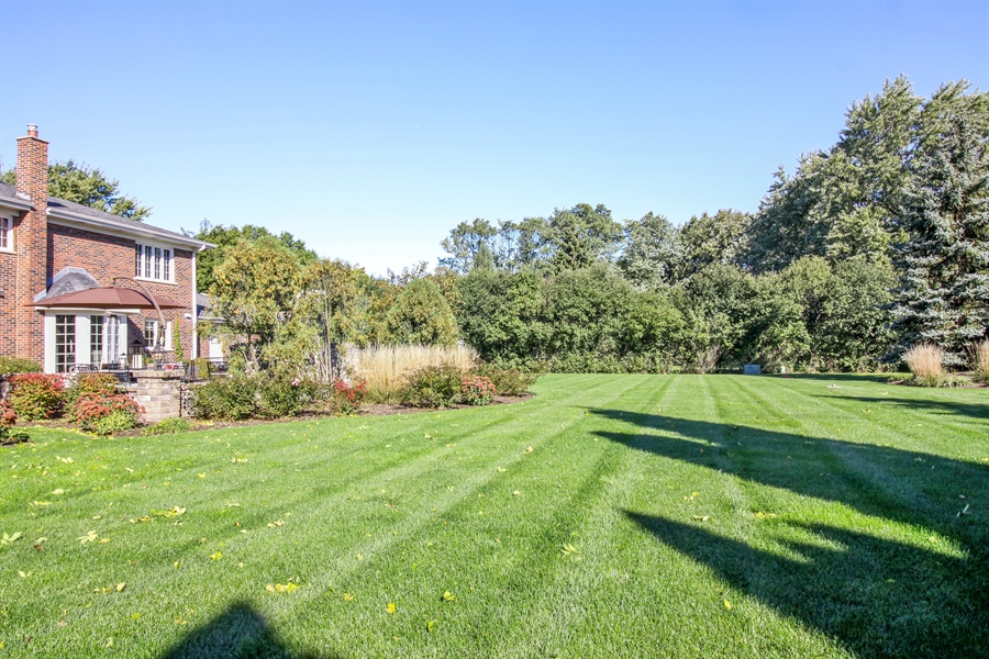 Real Estate Photography - 35 Bradford Ln, Oak Brook, IL, 60523 - Back Yard