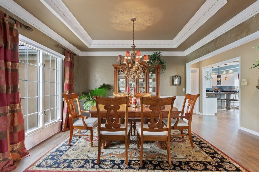 Real Estate Photography - 1063 Sandstone Court, Aurora, IL, 60502 - Distinctive Formal Dining Room