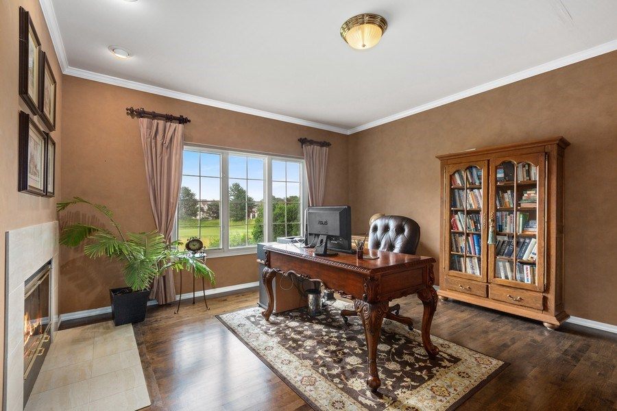 Real Estate Photography - 1063 Sandstone Court, Aurora, IL, 60502 - 1st Floor Den/Office