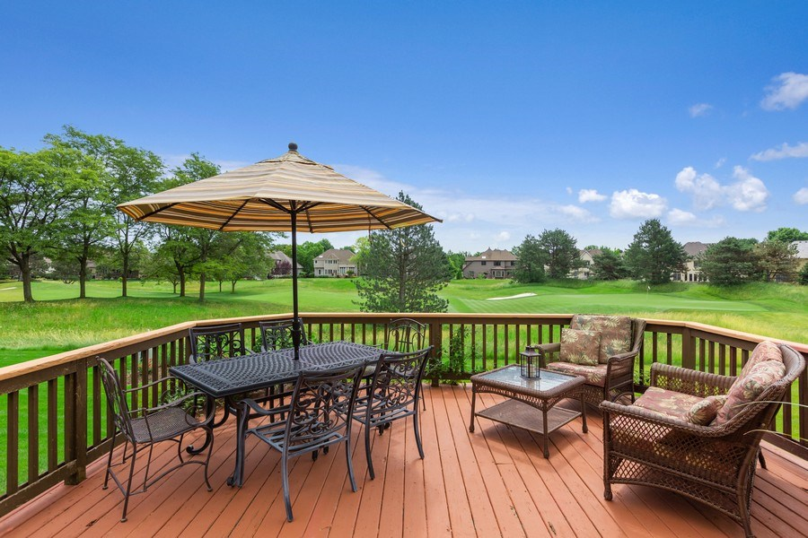 Real Estate Photography - 1063 Sandstone Court, Aurora, IL, 60502 - Golf Course View from Large Deck