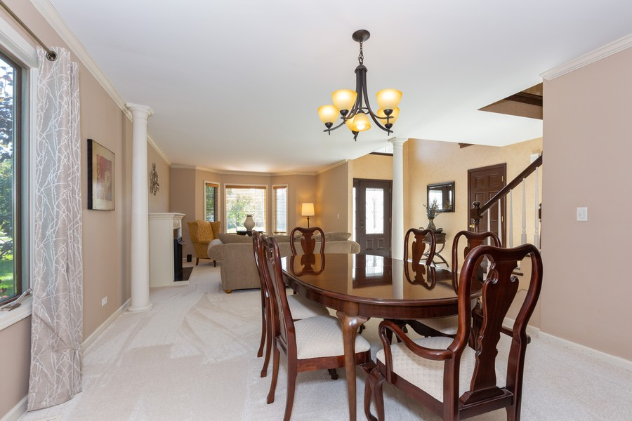 Real Estate Photography - 2743 Fairhauser Rd, Naperville, IL, 60564 - Dining/Living Room