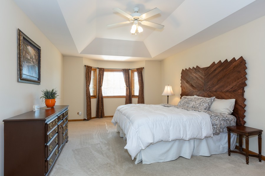 Real Estate Photography - 2743 Fairhauser Rd, Naperville, IL, 60564 - Master Bedroom w/Bay Window