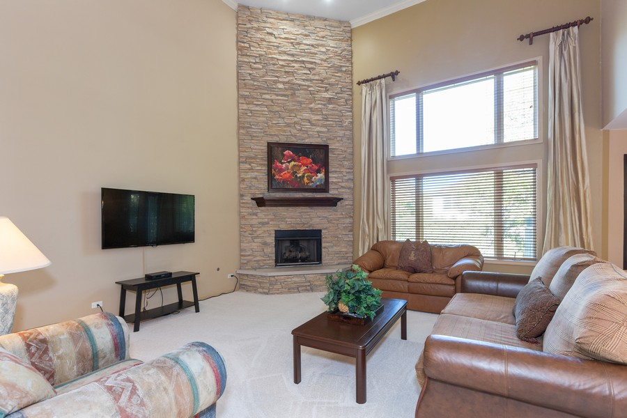 Real Estate Photography - 2743 Fairhauser Rd, Naperville, IL, 60564 - Family Room w/Fireplace