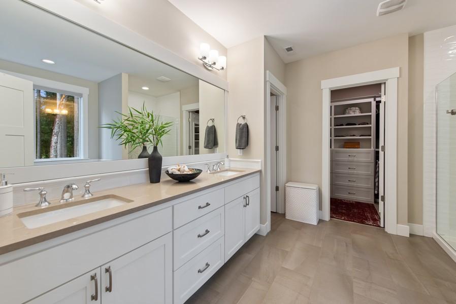Real Estate Photography - 10698 N. Madison, Bainbridge Island, WA, 98110 - Master Bathroom