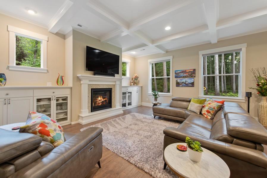 Real Estate Photography - 10698 N. Madison, Bainbridge Island, WA, 98110 - Family Room