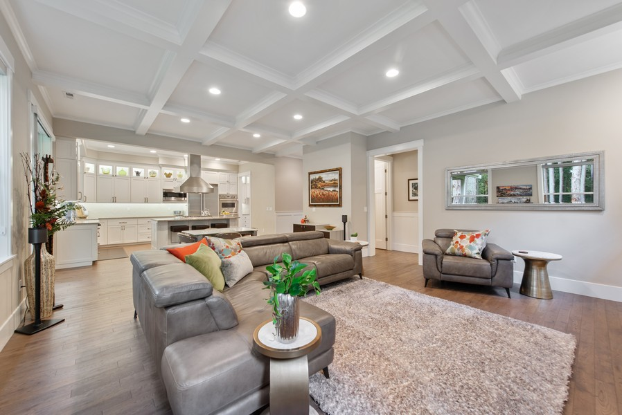 Real Estate Photography - 10698 N. Madison, Bainbridge Island, WA, 98110 - Family Room / Kitchen