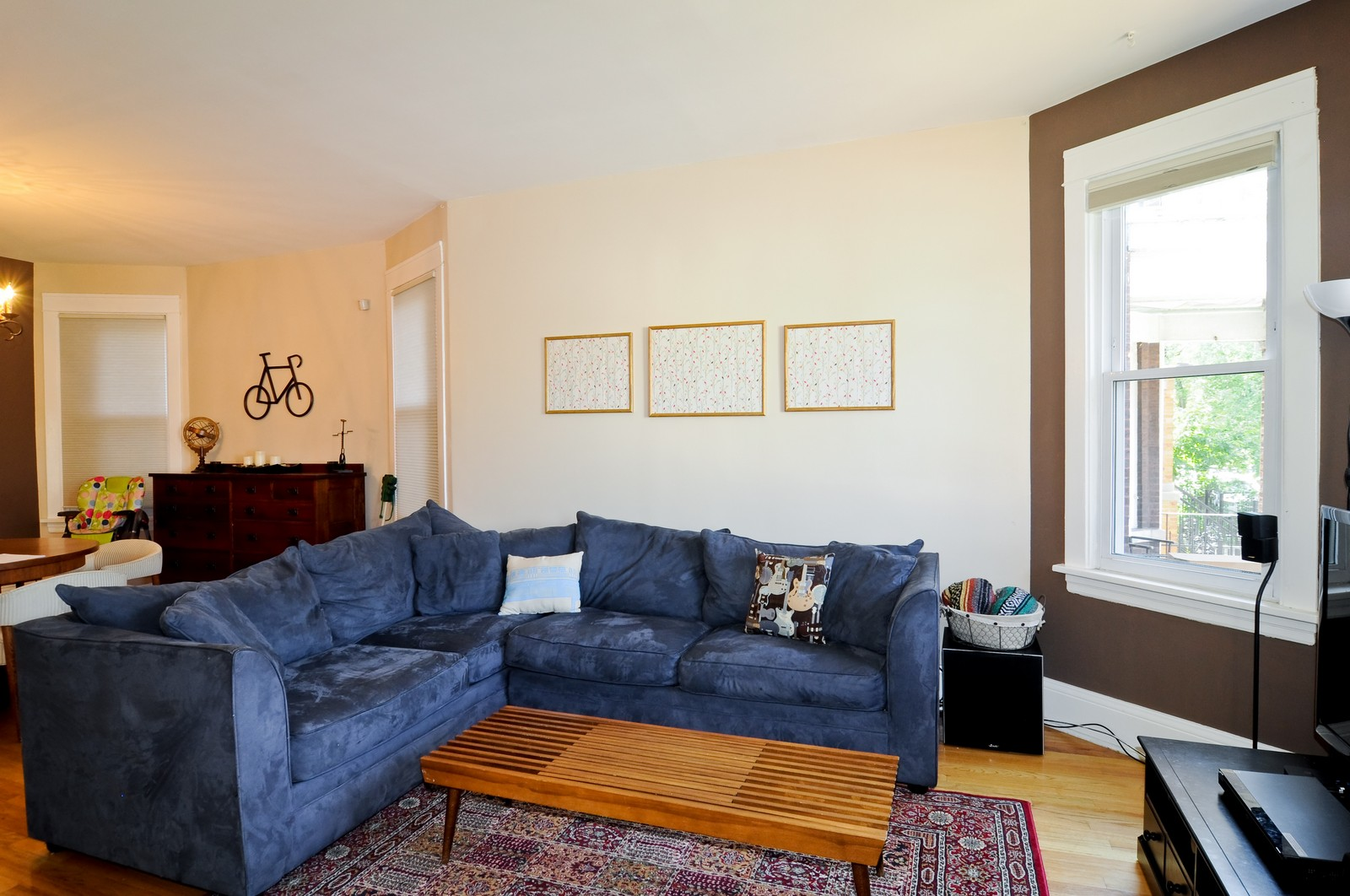 Real Estate Photography - 3835 N Kimball, Chicago, IL, 60618 - Living Room