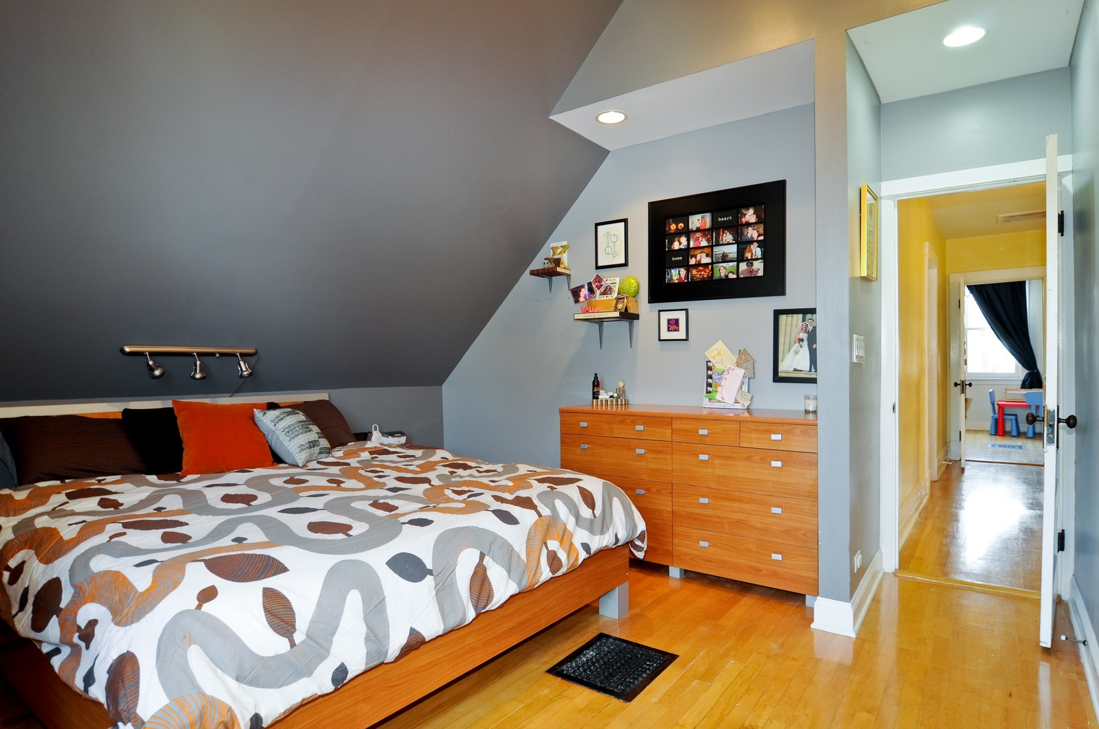 Real Estate Photography - 3835 N Kimball, Chicago, IL, 60618 - Master Bedroom