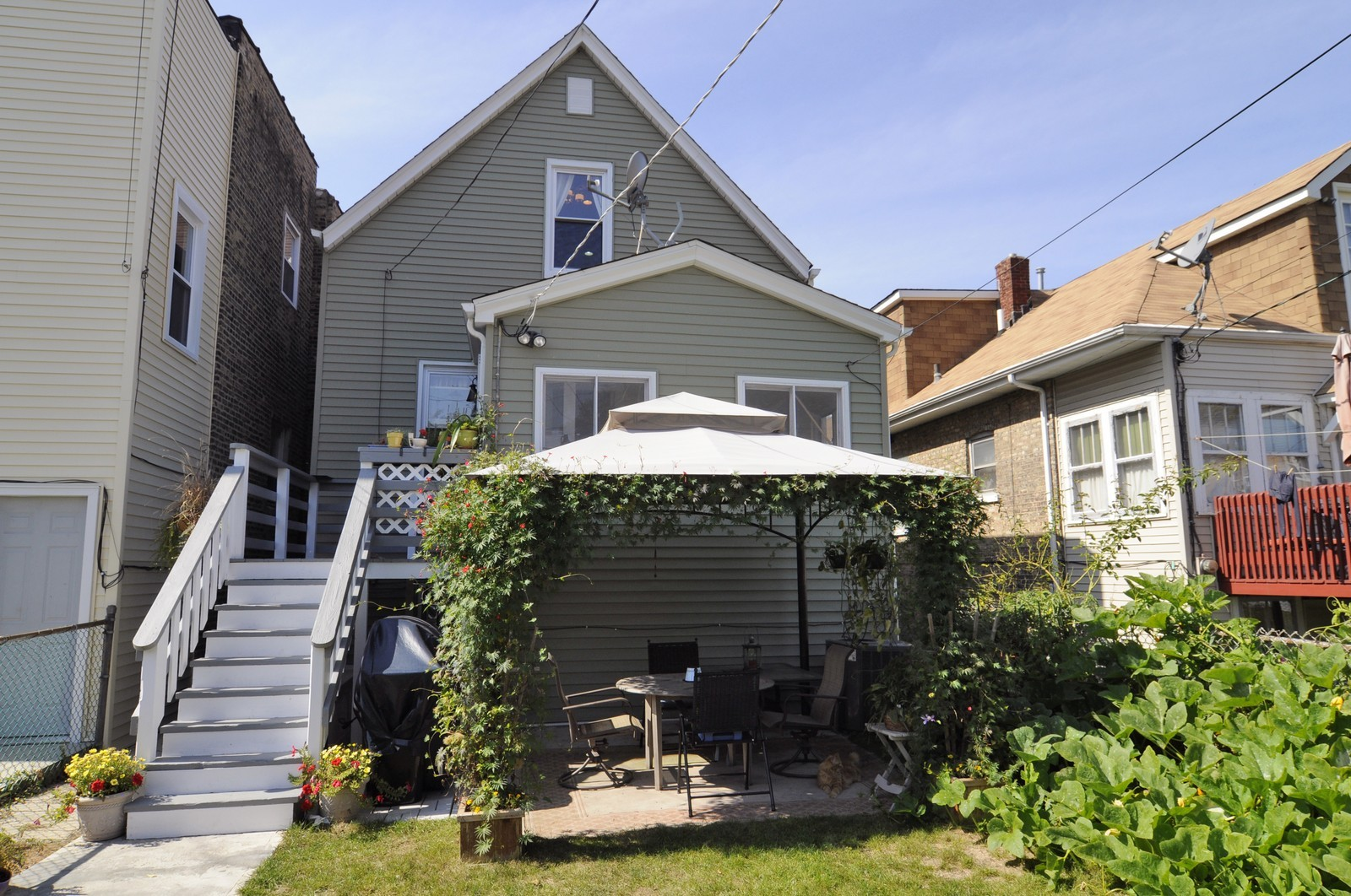 Real Estate Photography - 3835 N Kimball, Chicago, IL, 60618 - Rear View
