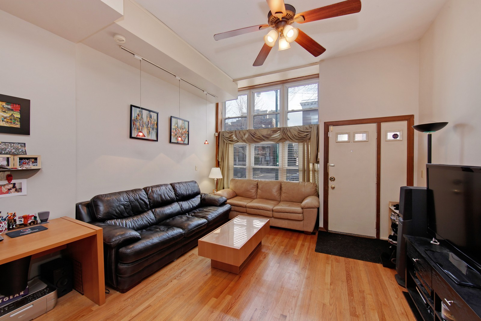 Real Estate Photography - 1748 N Honore, 1,2, 3, Chicago, IL, 60622 - Living Room