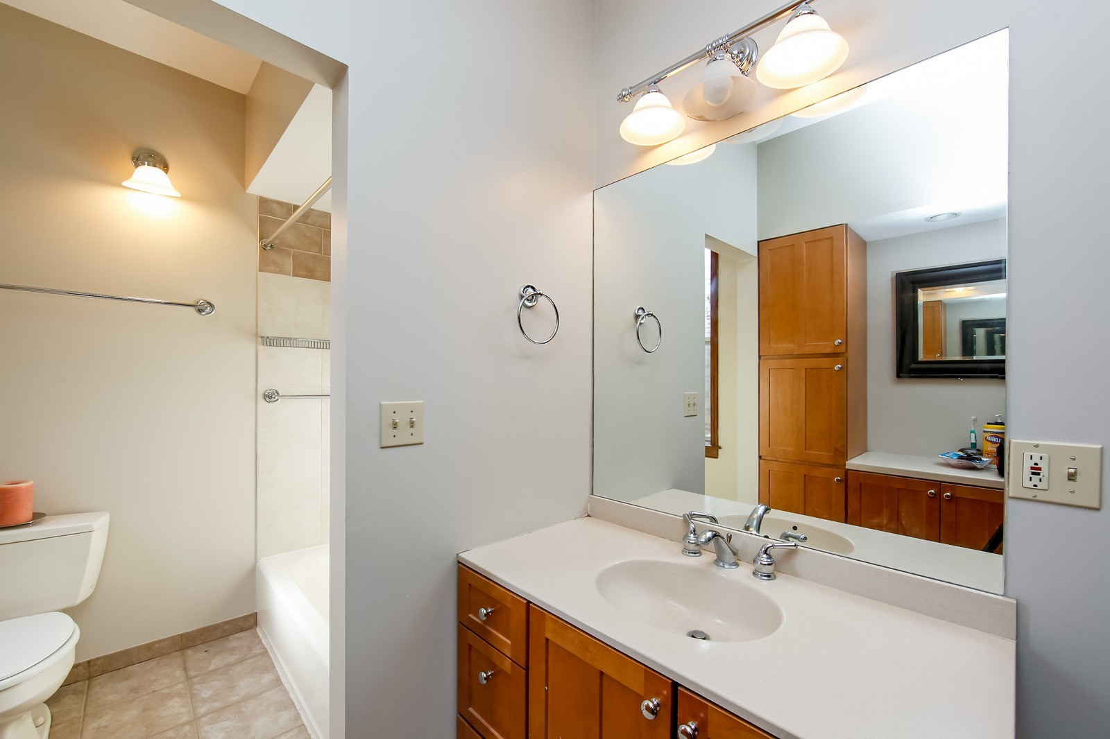 Real Estate Photography - 1748 N Honore, 1,2, 3, Chicago, IL, 60622 - Master Bathroom