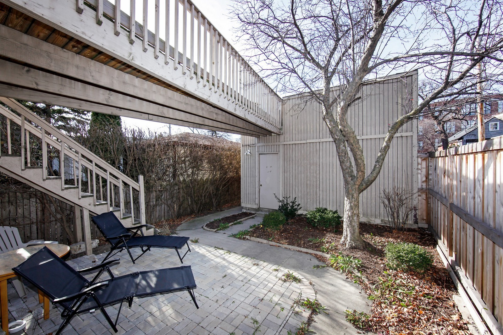 Real Estate Photography - 1748 N Honore, 1,2, 3, Chicago, IL, 60622 - Garden