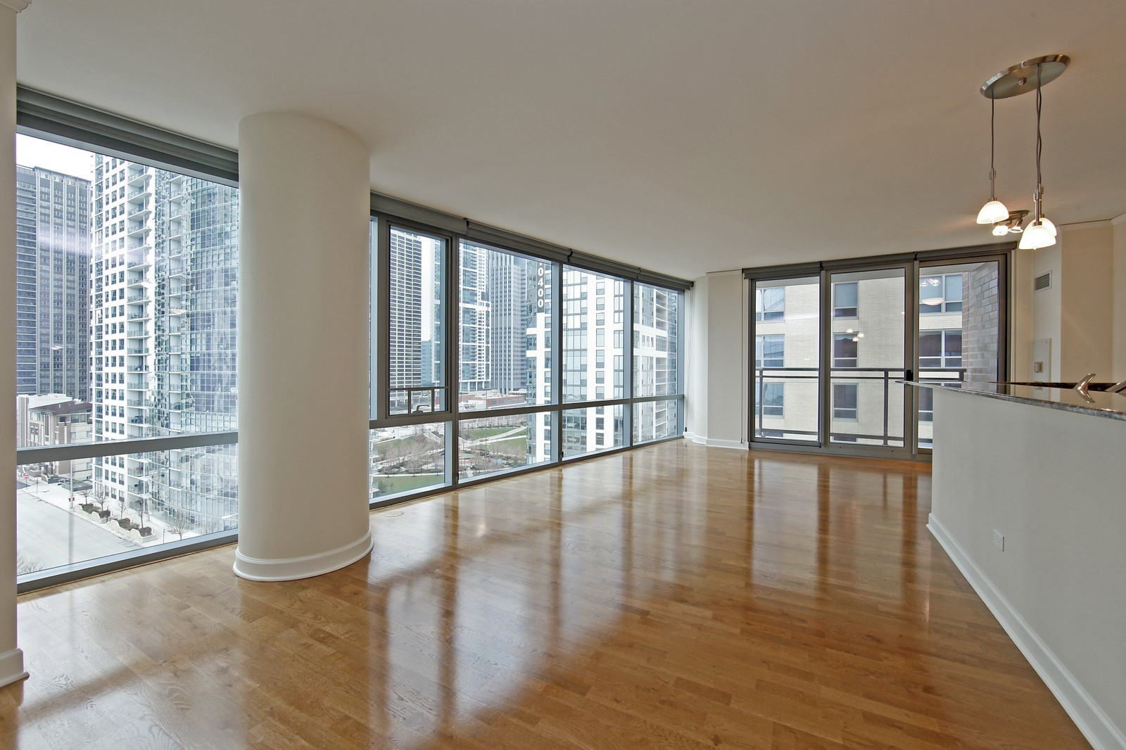 Real Estate Photography - 450 E Waterside, 708, Chicago, IL, 60601 - Living Room