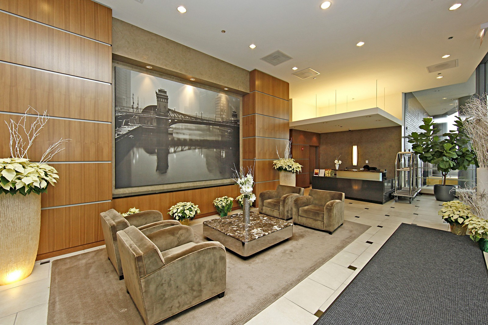 Real Estate Photography - 450 E Waterside, 708, Chicago, IL, 60601 - Lobby
