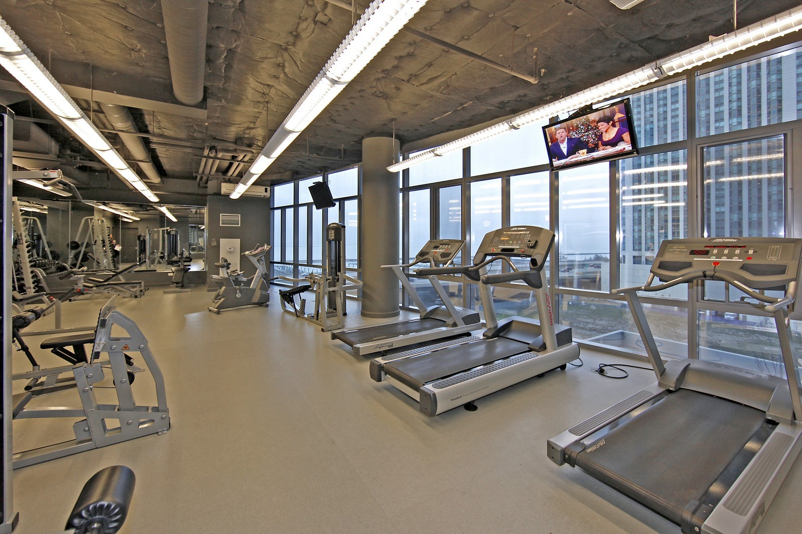 Real Estate Photography - 450 E Waterside, 708, Chicago, IL, 60601 - Fitness Center