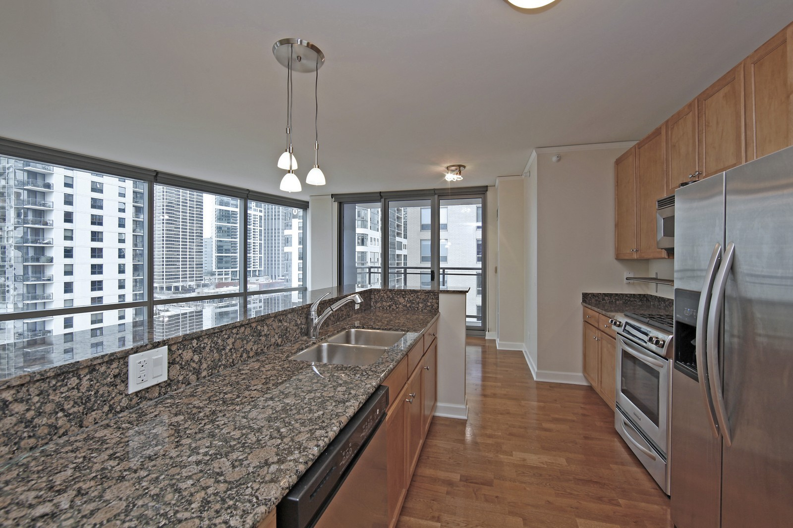 Real Estate Photography - 450 E Waterside, 708, Chicago, IL, 60601 - Kitchen