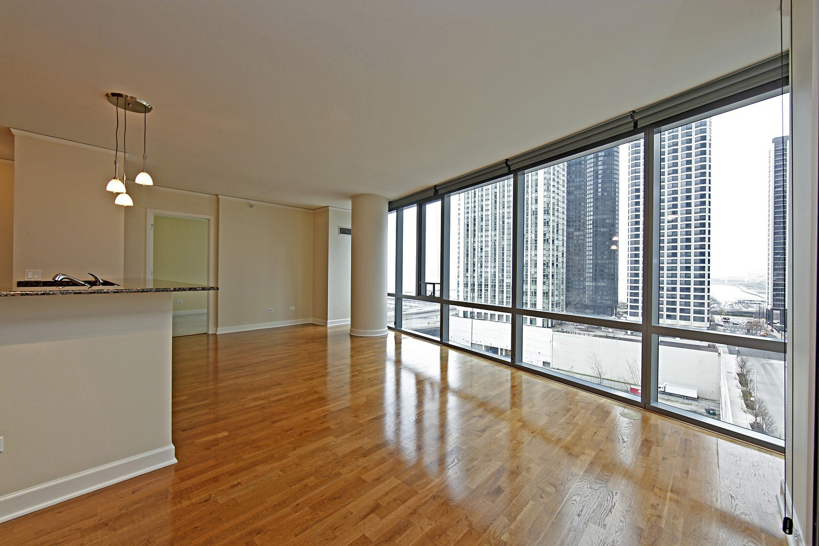Real Estate Photography - 450 E Waterside, 708, Chicago, IL, 60601 - Living Room / Dining Room