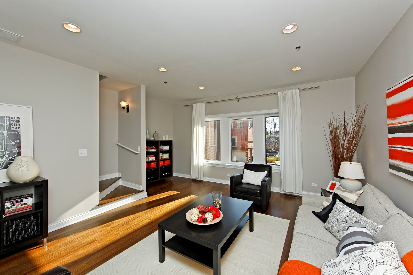 Real Estate Photography - 2422 W Bross, Chicago, IL, 60608 - Living Room