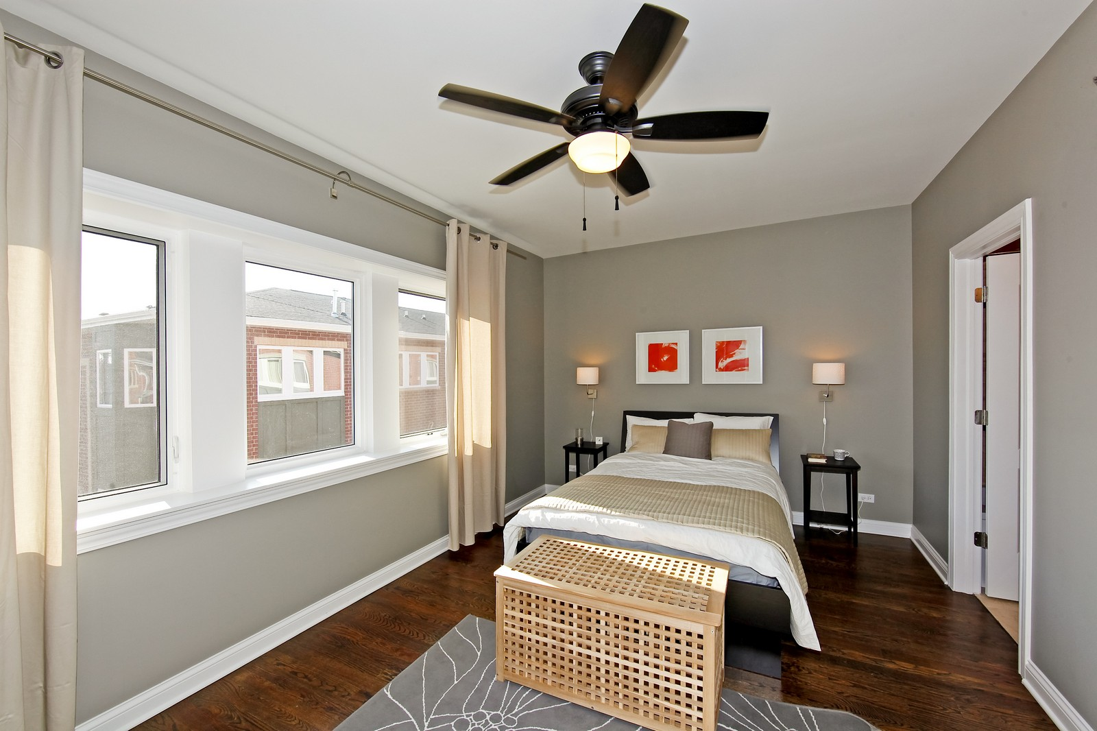 Real Estate Photography - 2422 W Bross, Chicago, IL, 60608 - Master Bedroom