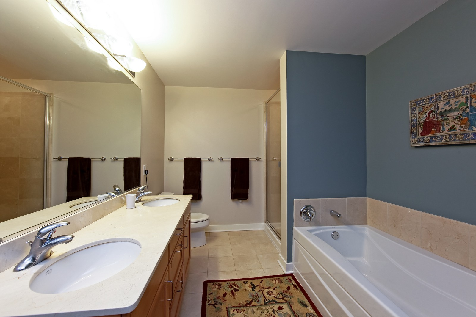 Real Estate Photography - 250 E. Pearson, 902, Chicago, IL, 60611 - Master Bathroom