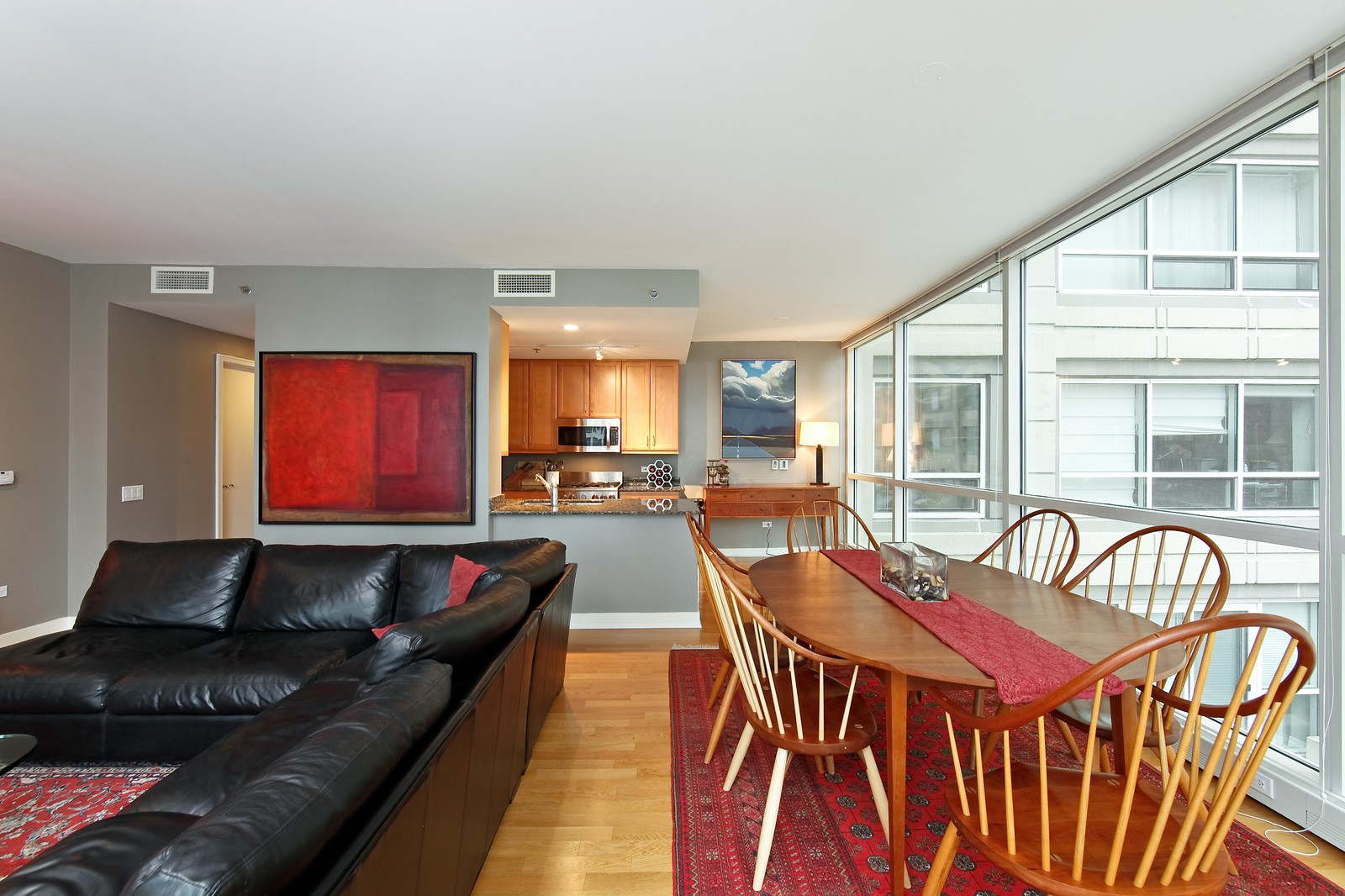 Real Estate Photography - 250 E. Pearson, 902, Chicago, IL, 60611 - Living Room / Dining Room
