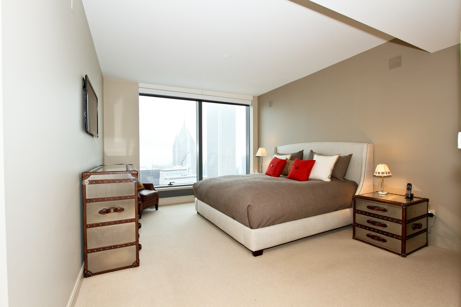 Real Estate Photography - 60 E Monroe, 6501, Chicago, IL, 60603 - Master Bedroom
