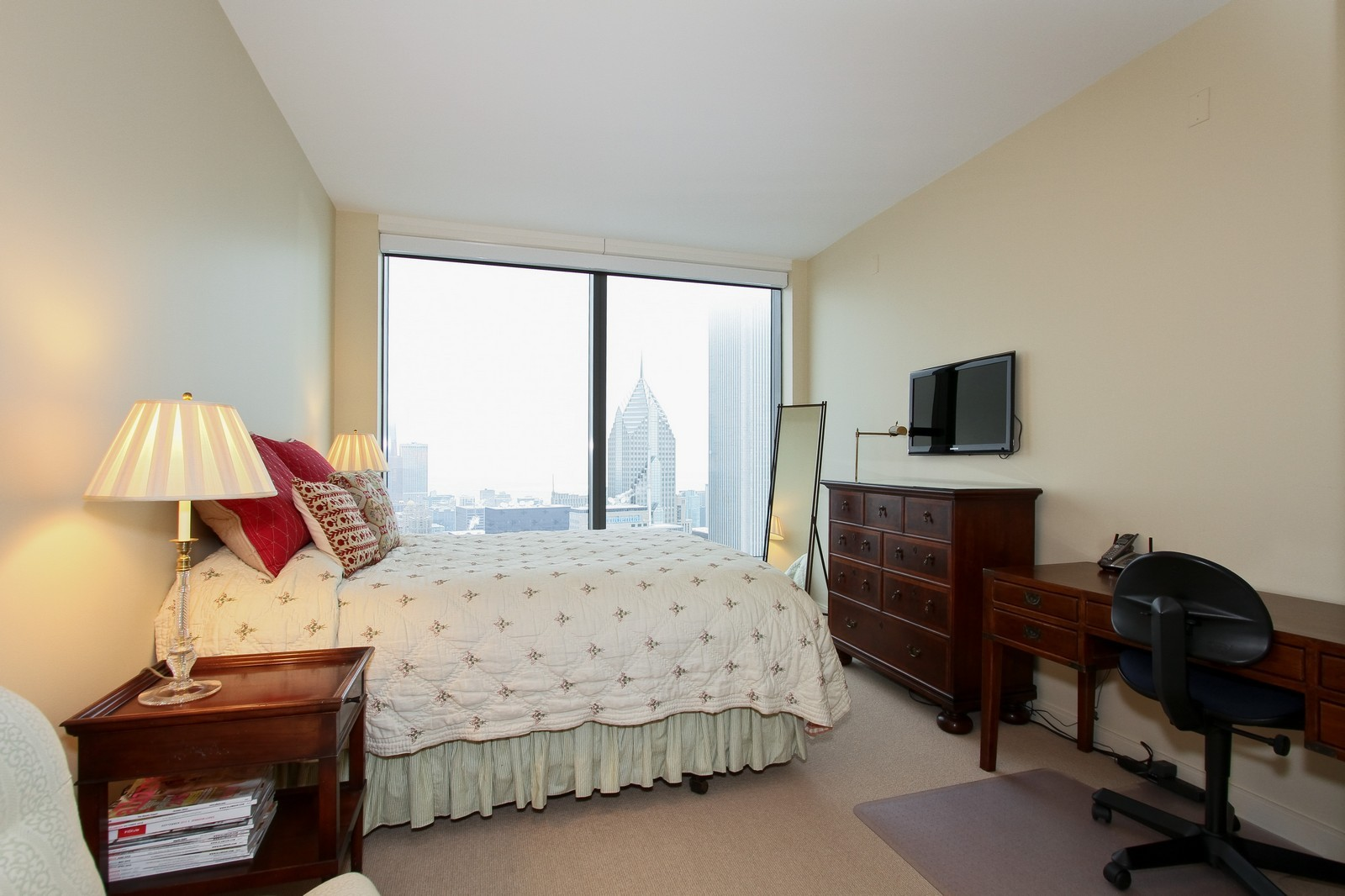 Real Estate Photography - 60 E Monroe, 6501, Chicago, IL, 60603 - 2nd Bedroom