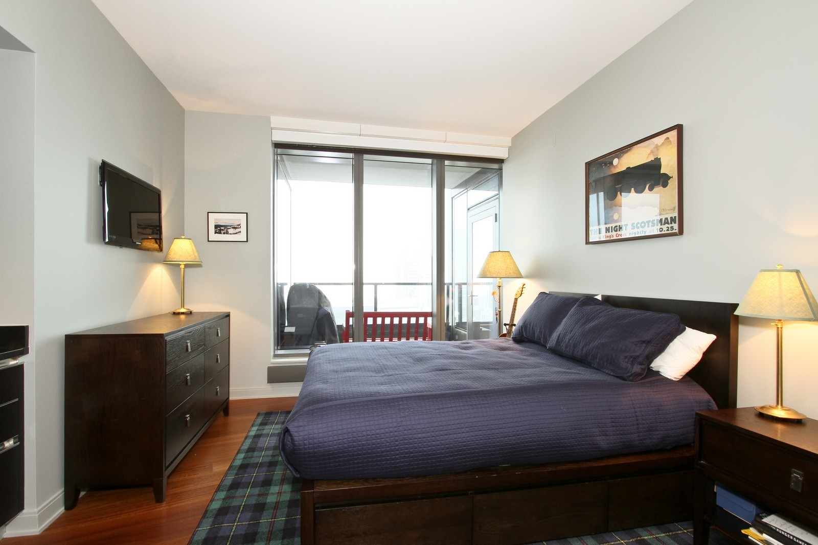 Real Estate Photography - 60 E Monroe, 6501, Chicago, IL, 60603 - 3rd Bedroom