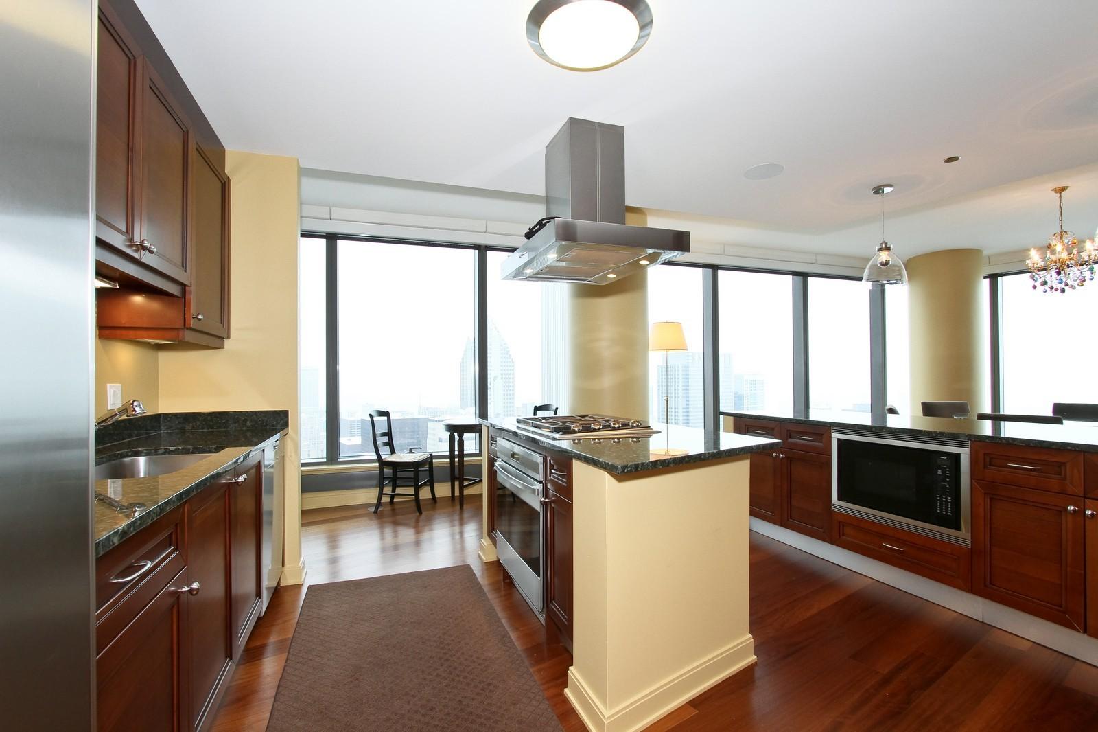 Real Estate Photography - 60 E Monroe, 6501, Chicago, IL, 60603 - Kitchen