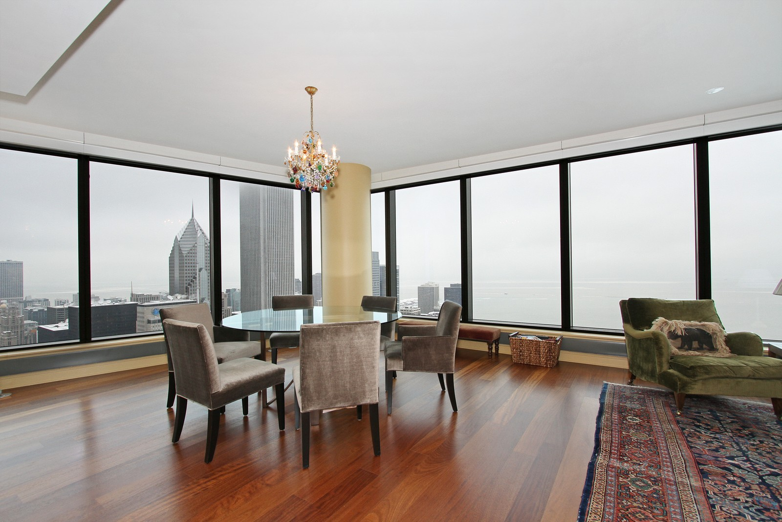 Real Estate Photography - 60 E Monroe, 6501, Chicago, IL, 60603 - Dining Room