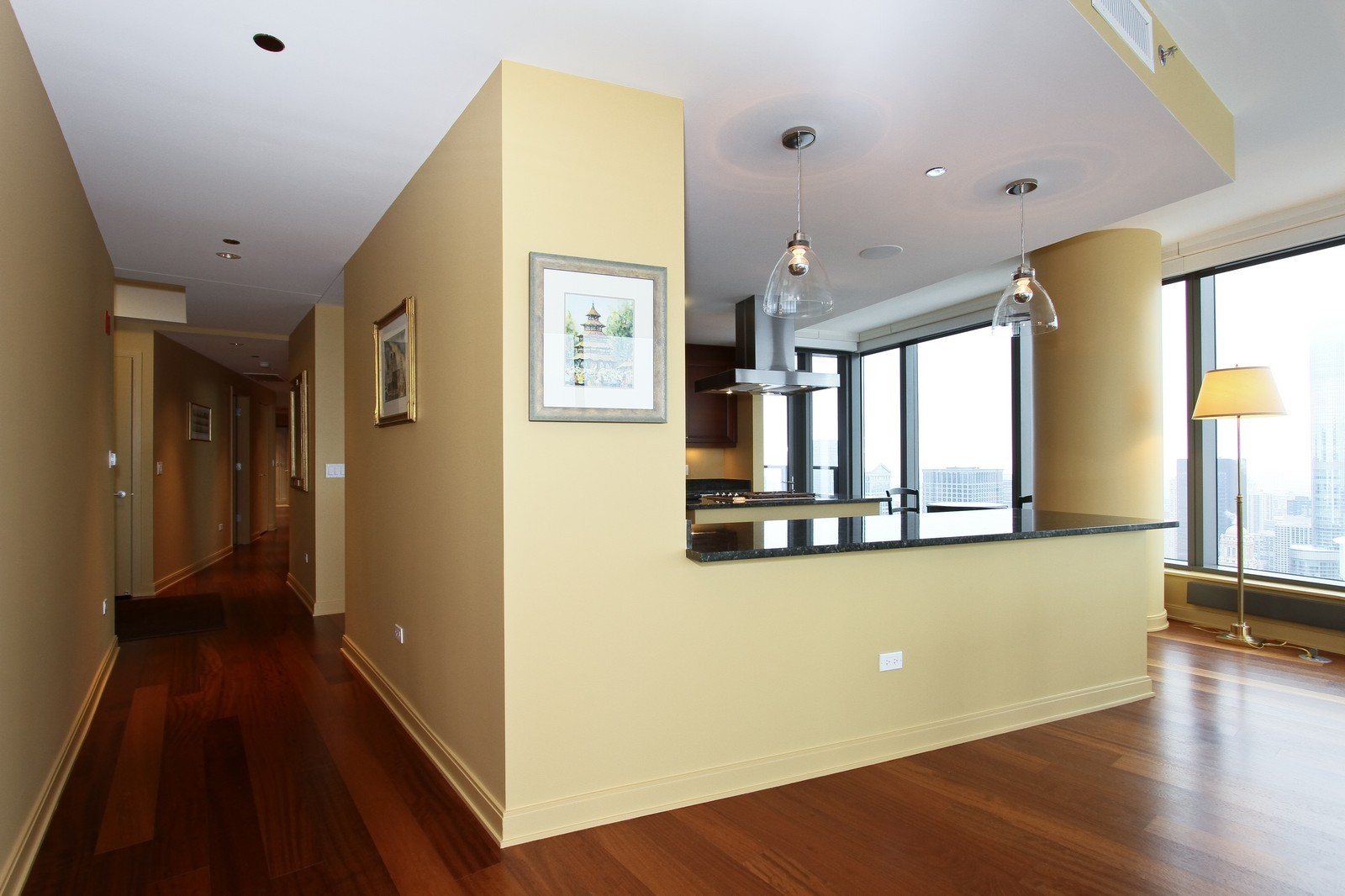 Real Estate Photography - 60 E Monroe, 6501, Chicago, IL, 60603 - Hallway