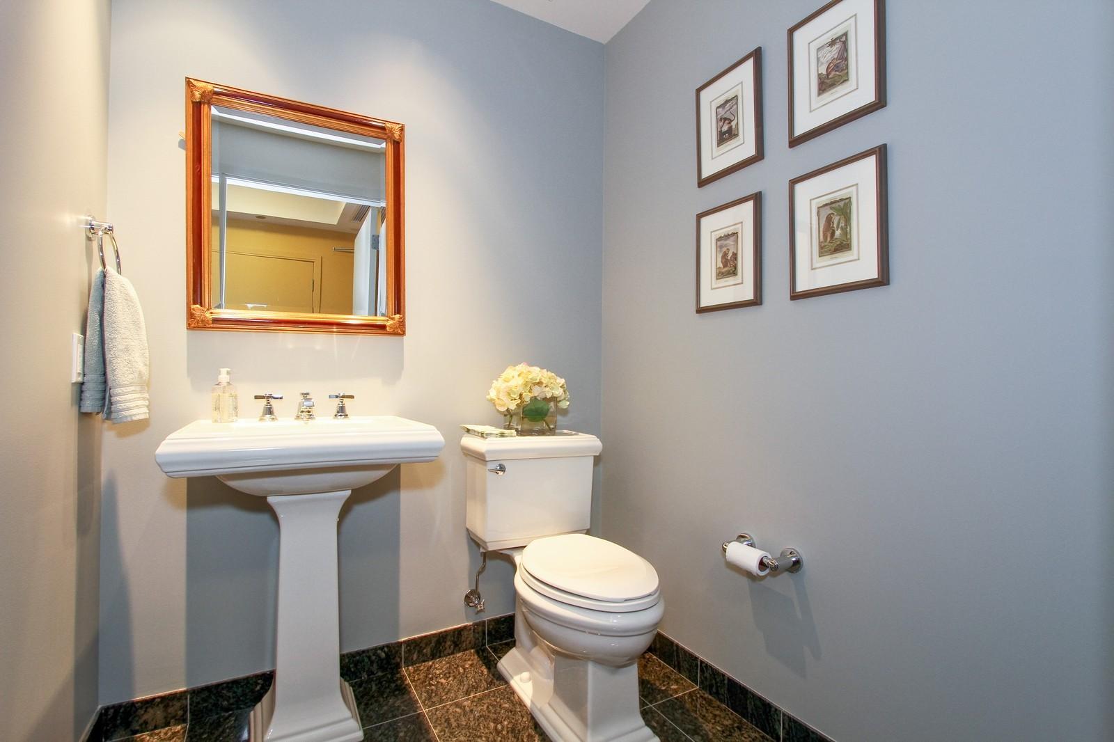 Real Estate Photography - 60 E Monroe, 6501, Chicago, IL, 60603 - Half Bath