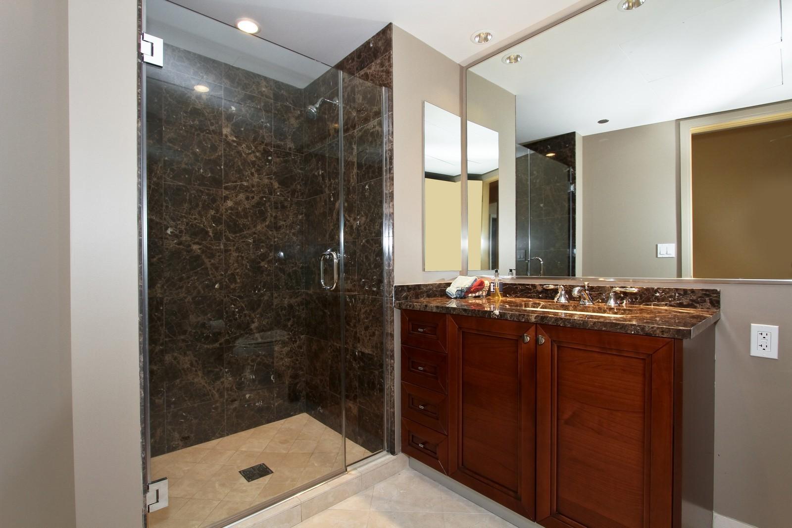 Real Estate Photography - 60 E Monroe, 6501, Chicago, IL, 60603 - Bathroom