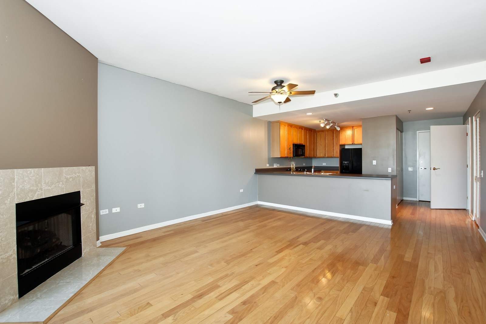 Real Estate Photography - 1515 S. Prairie Ave., 717, Chicago, IL, 60605 - Kitchen / Living Room