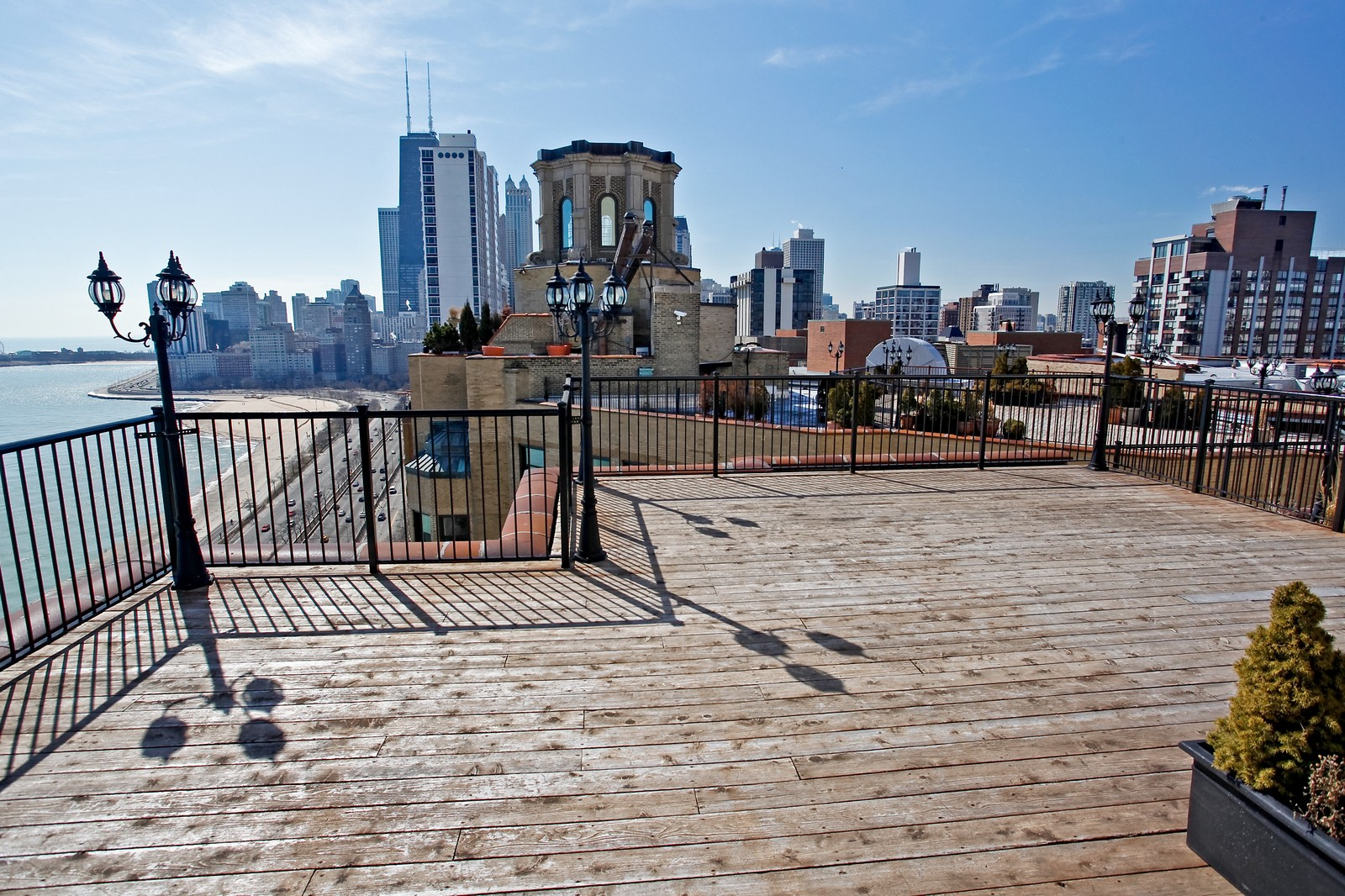 Real Estate Photography - 1400 N Lake Shore Drive, 16E, Chicago, IL, 60610 - Roof Deck